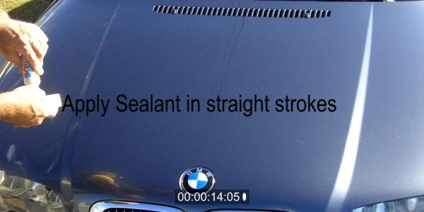 apply paint sealant on new cars